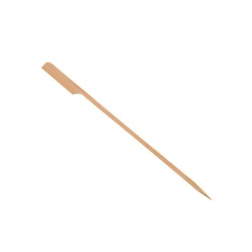 axentia 50 Stück, Länge ca. 20 cm, Holzstäbe mit Grifffläche, Grillspieße, Schaschlikspieße, Fingerfood Bambusspieß, Holz, braun, 20 x 0.5 x 1 cm, Einheiten
