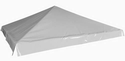 TUTTOPERGOLE Telo in PVC di Ricambio Tetto Gazebo 3X3 m (Grigio)