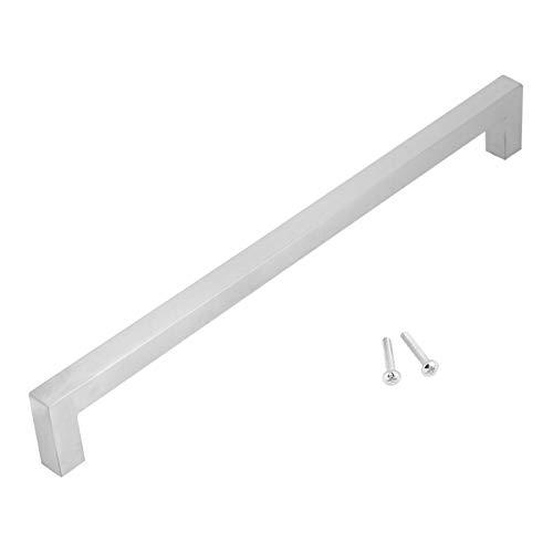 Klamki do drzwi kwadratowe uchwyty do szafki barowej akcesoria do szafki kuchennej/szuflady komody białe 12 mm (288 mm)