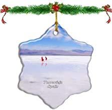 Kysd43Mill Torrevieja - Adornos navideños de Porcelana con Forma de Estrella de Dos Caras para árbol de Navidad, decoración de árbol de Navidad, Regalos para niños