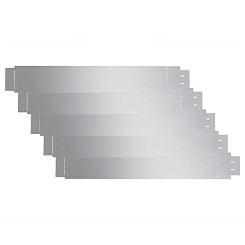 vidaXL 5X Rasenkante Flexibel Verzinkter Stahl 100x14cm Gartenzaun Rasenzaun Beetumrandung Rasenbegrenzung Beeteinfassung Mähkante