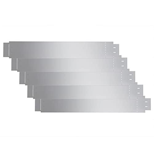 vidaXL 5X Rasenkante Verzinkt 100x15cm Beetumrandung Beeteinfassung Mähkante