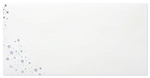 briefumschlaege24Plus 100Buste Natale di DIN lungo 11x 22cm con interno Stampa Stampa in argento e strisce adesive, grammatura 80G/M²