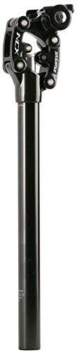 Fahrrad-Sattelstütze, Aluminiumlegierung, Mountainbike-Sattelstütze, 50 mm, Federung, Sattelstütze (schwarz, 27,2 x 350 mm)