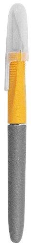 Westcott E-30403 00 Titanium Skalpell Softgrip-Griff mit Schutzkappe, grau/gelb