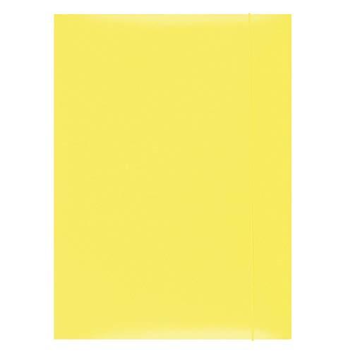 OFFICE PRODUCTS 21191131-06 Mappe mit Gummiband Karton, A4, Grammatur 300 g/m², 3 Klappen, gelb