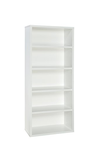 ClosetMaid 13504 Decorative 5-Shelf Unit, White
