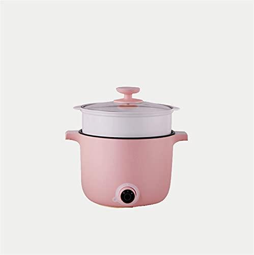 HHTD Potito pequeño Multifuncional Hot Pot Pot Noodle Cocinar la Olla eléctrica para el Dormitorio con una pequeña Olla eléctrica integrada: Cocina Inicio (Color : Pink)