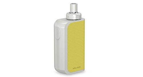 Joyetech, eGo AIO Box (tutto in uno), bianco e giallo, senza nicotina, senza tabacco