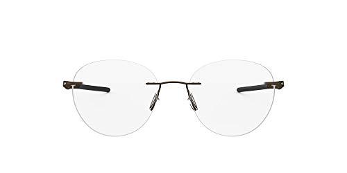 Oakley Men's OX5143 Drill Press Titanium Round Prescription Eyeglass Frames, Pewter/Demo Lens, 51 mm