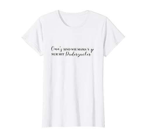 Femme Les mamans sont comme les mamans avec du sucre en poudre - Idée cadeau pour grand-mère. T-Shirt