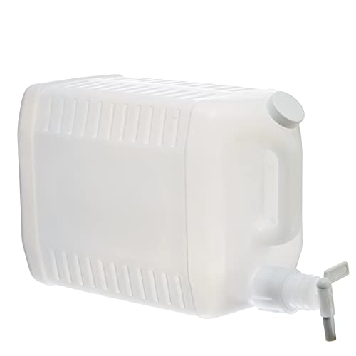 Tolco 2.5 Gallon Plastic Dispenser Carboy with Spigot, HDPE, Natural