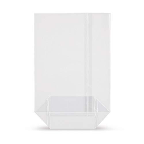 Elke-Plastic OPP Kreuzbodenbeutel 30mµ I 115 x 190 I 50 Stück I Bodenbeutel transparent I Klarsichttüten I Gebäckbeutel I Kekstüten I Geschenktüten transparent I Zellophan Tüten