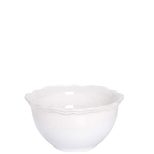 BUTLERS Eaton Place Klassische Schale aus Keramik Ø 14 cm in Weiß - Suppenschale im romantischen Stil - Geschirr-Set