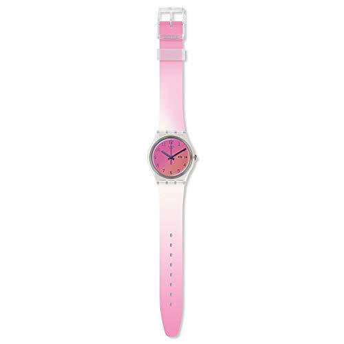 Swatch Reloj Analógico para Mujer de Cuarzo Suizo con Correa en Silicona GE719