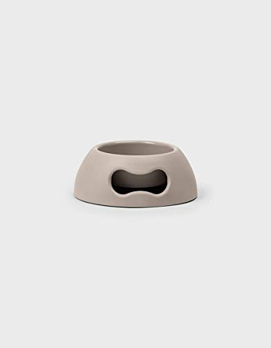 United Pets Pappy Dog Bowl, pequeño, Gris Claro