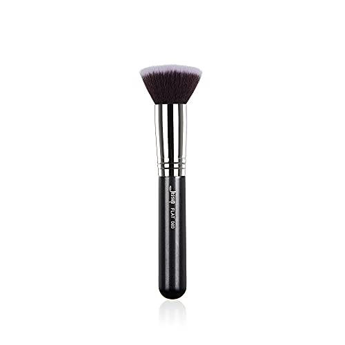 Jessup Pinceaux de maquillage Pinceaux de base Kabuki Pinceaux simples Pinceaux professionnels pour le visage Pinceaux de maquillage Pinceaux cosmétiques Cheveux synthétiques Noir B069-080