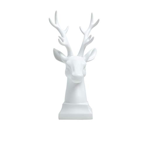 GAOYINMEI Rzeźba biurkowa statuetka nordycka kreatywna szafka na wino dekoracje ozdoby nowoczesny minimalistyczny ganek salon szafka TV biuro jeleń meble na biurko (kolor: biały)