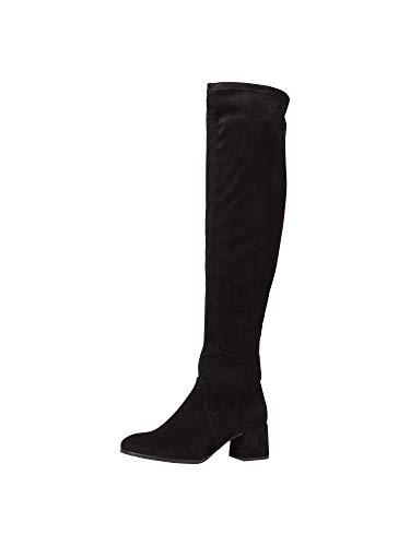 Tamaris Mujer Botas, señora Botas de Muslo,Botas por Encima de la Rodilla, Overknee-Boots,Botas de Mango Largo,Sexy,Femenino,Black,40 EU / 6.5 UK
