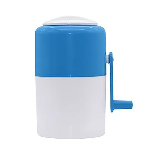 OMKMNOE Máquina de hielo Ice Razor Máquina de cono de nieve, trituradora de hielo portátil de manivela y afeitada con cubitos de hielo Cuencos cono Copa Pajitas Boquilla de botella, azul