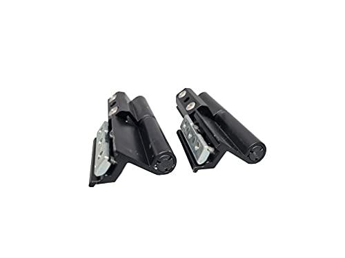 Ventanastock - Bisagras de repuesto 2 palas para ventana de aluminio practicable apertura izquierda de canal Europeo Lacado Negro (4 unidades)