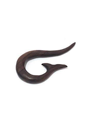 Tribal Piercing espiral con punta langgezogener de dilatación de madera, de Bali Extender túnel Plug Pendientes Pendientes WP5