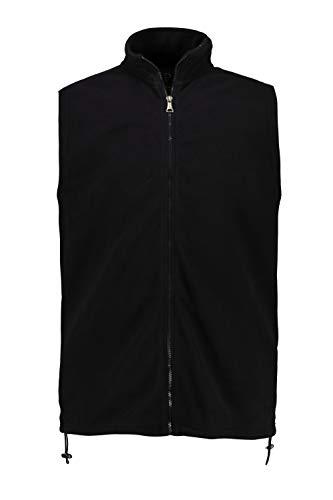 JP 1880 Herren große Größen bis 7XL, Fleeceweste, Stehkragen, Zipp-Pockets, Saumtunnel, schwarz L 723305 10-L