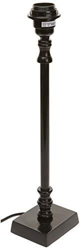 Better & Best 0053844 Lámpara sobremesa metal peana cuadrada de metal, color: negro