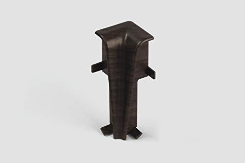 EGGER Innenecke Sockelleiste Hartholz dunkelbraun für einfache Montage von 60mm Laminat Fußleisten   Inhalt 2 Stück   Kunststoff robust   Holz Optik dunkel braun