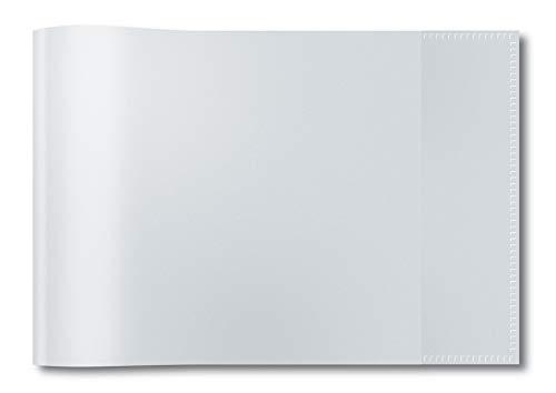 HERMA 7470 Heftumschlag DIN A5 quer, transparent, durchsichtig, Hefthülle aus strapazierfähiger und abwischbarer Polypropylen-Folie, Heftschoner für Schulhefte, klar