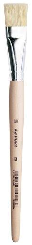 da Vinci Student Serie 29 Malpinsel, Flache weiße chinesische Borsten mit einfachem Holzgriff, Größe 18 (29-18)