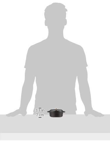 staub ストウブ 「 ミニ ココット オーバル ブラック 11cm 」