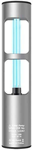Lámpara de desinfección UV NECESPOW, lámpara de ozono ultravioleta, luz esterilizadora zona de mascotas, inodoro, luz UV recargable, mata 360 grados, mata bacterias gérmenes (plata)