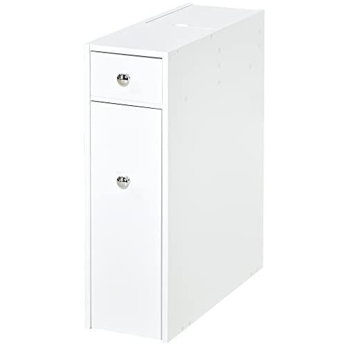 mobiletto bagno usato homcom Mobiletto Armadietto Cassetti Scorrevoli Moderno da Bagno in MDF 17 x 48 x 58cm Bianco