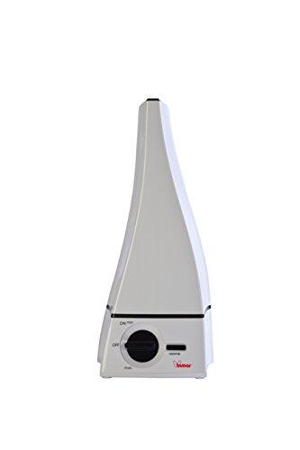 Bimar Humidificador Ozonizador Silencioso Ultrasonido UM4BI, Capacidad del Tanque 2,8 L y Autonomía de 8 Horas, Vaporizador de Habitación, Purifica el Aire, Difunde Aromas, Eliminar Malos Olores