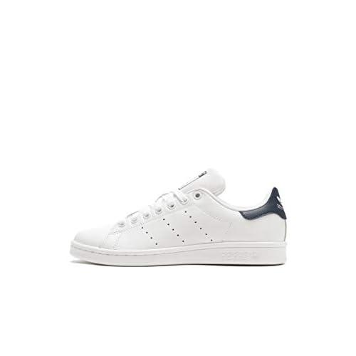 Adidas Stan Smith, Sneakers Unisex-Adulto, Bianco (Running White / New Navy), 44 EU