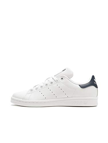 Adidas Stan Smith Zapatillas de Deporte Unisex adulto, Blanco (Core White/Running White/New Navy), 44 EU (9.5 UK)