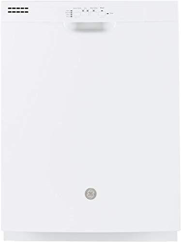 """GE GDF510PGMWW 24"""" Dishwasher with Front Controls 14 Place Settings Energy Star Certified Dry Boost Automatic Hot Start in White"""