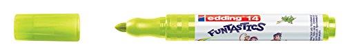 edding Fasermaler Filzstifte e-14 FUNTASTICS, Gelbgrün, ca. 3 mm