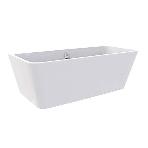 i-flair Freistehende Badewanne MALMÖ Design 170 x 75 cm - aus Acryl in Weiß – verschiedene Größen