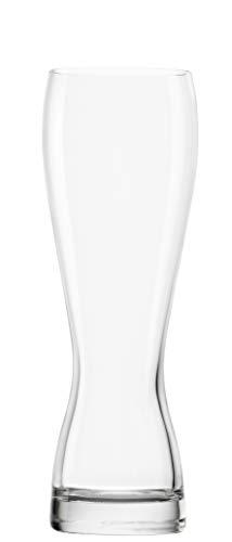 STÖLZLE LAUSITZ Weizenbierglas I Biertulpe I Weißbiergläser 6er Set I formschöne Biergläser I spülmaschinenfest I bleifreies Kristallglas I bruchresistent I hochwertige Qualität (0,5 L)