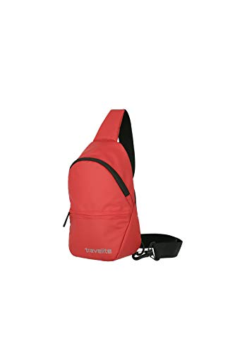 Travelite Basic Series Crossover Rucksack Waterproof Material Luggage Backpack Tarpaulin Small Sling Backpack with Shoulder Strap 29 cm 3 Litres Red