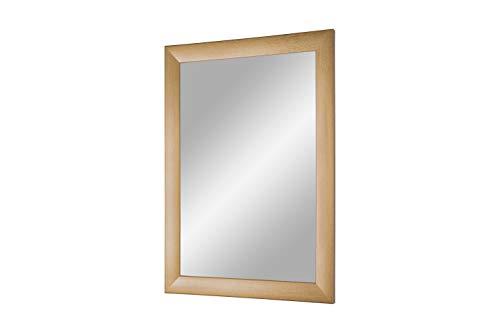 FRAMO Trend 35 - wandspiegel met lijst (goud geveegd), spiegel op maat met 35 mm brede MDF-houten lijst - op maat gemaakte spiegellijst incl. spiegel en stabiele achterwand met ophanghaakjes 70 x 155 cm (Außenmaß) verguld