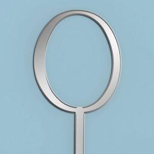 Oasis Supply 7,6 cm große Cupcake-/Kuchendekoration mit einer schönen Spiegeloptik, klein, Monogramm Buchstabe