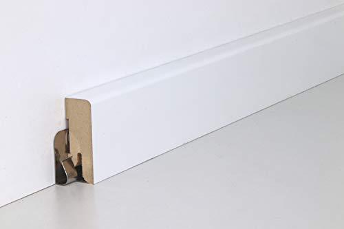 Schnell | Montage Clip für Sockelleiste inkl. Schrauben und Dübel, Leistenclips für unsichtbare Fußleisten- / Sockelleistenmontage 50er Pack