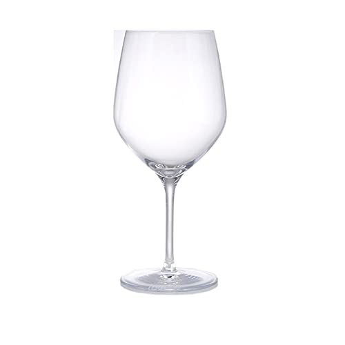 NAXIAOTIAO Copas De Vino Tinto Conjunto De 6, Copas De Vino Grandes, Cristal De Cristal Claro, 705 Ml Medido En Plena