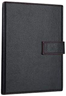 Durable Notebook Business 25k Notepad Retro Good Quality Leather Notebook A Pen Simple Notebook Planner School Office Stationery Office (Color : Black notebook, Size : 25k notebook)