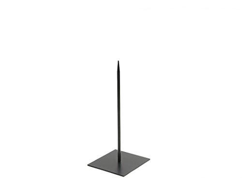 NaDeco Metallständer 18x18cm Pin 40cm Dekoständer Objektständer Metallständer für Skulpturen Metallständer mit Fuß
