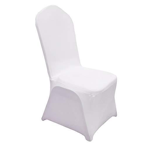 ZEHNHASE Juego de fundas para sillas de comedor, de licra elástica, para bodas, fiestas, hoteles, banquetes (100 unidades)
