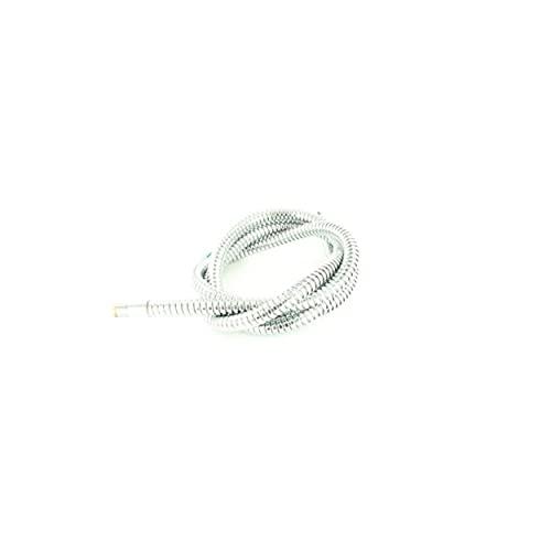 Manguera de ducha con juntas LEVOS-S MZ 117783 para grifo Blanco Levos-S, manguera de ducha para grifo de cocina, color blanco